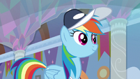 Rainbow Dash walking through the school S9E15