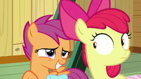 Scootaloo looking embarrassed S9E22