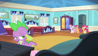 Spike depressed while packing S4E24