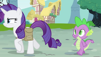 Spike sees Rarity walking S4E23