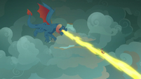 Torch breathing fire at Flash Magnus S7E16
