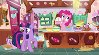 Twilight Sparkle getting ingredients for Pinkie S7E23