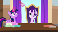 Twilight Sparkle ringing a little bell S8E15