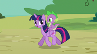 Twilight Sparkle with Spike on her back S6E22
