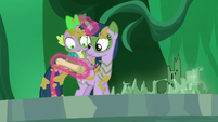 Twilight and Spike looks at the scroll S5E26