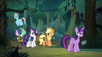 Twilight and friends get separated from Fluttershy S8E13