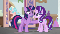 Twilight commending Starlight Glimmer S8E12