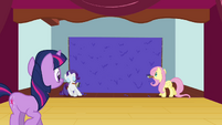 Twilight looking at painted wall S3E03