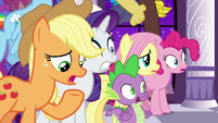 "Applejack ""everything was fine a minute ago!"" S9E17"