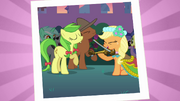 Applejack playing the fiddle S2E26