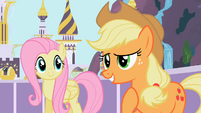 Fluttershy and Applejack S02E09