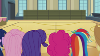 Mane 6 in the empty gymnasium EG2