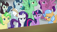 "Ponies go ""awww""; Twilight and Rarity annoyed S8E16"