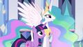 Princess Celestia talking to Twilight EG.png