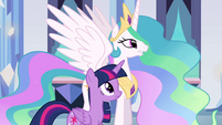 Princess Celestia talking to Twilight EG