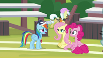 RD realizes Fluttershy and Pinkie were serious S9E15