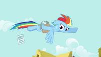Rainbow passing fliers S2E22