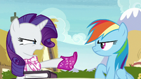 "Rarity ""you didn't even read it!"" S8E17"