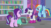Rarity and Dash unsure of Starlight's point S8E17