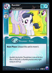 Rumble, Fast Learner card MLP CCG