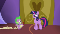 "Spike ""if we want to be at the hospital by lunch"" S7E3"