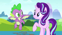 Starlight and Spike look at each other S8E15