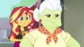 Sunset and Granny looking at the truck CYOE5b.png