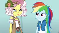 Vignette glaring at Rainbow Dash EGROF