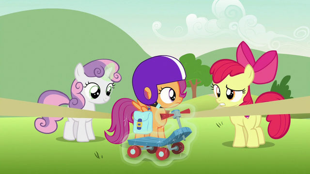 """File:Apple Bloom """"to finish your report"""" S7E7.png"""