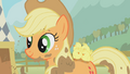 Applejack with the chickens S01E13.png