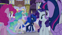 Celestia and Luna offering to help S9E17