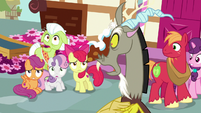 Discord looks offended at Crusaders S9E23