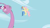 Fluttershy hugs Rainbow Dash S02E10