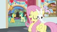 Fluttershy singing; Angel seeing double S8E2