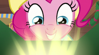 Pinkie Pie sees something glowing MLPBGE