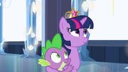 Princess Twilight holding Spike close EG