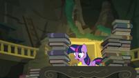 Princess Twilight looking at the fallen box EGFF