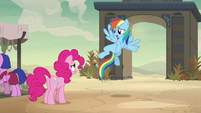"Rainbow Dash ""we gotta follow her!"" S7E18"