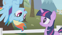 Rainbow Dash asks about the extra ticket S1E3