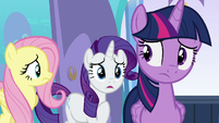 Rarity --I thought Alicorn wings had to be earned-- S6E1