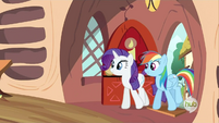 Rarity and Rainbow Dash S2E21