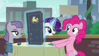 Rarity levitates menu booklet S6E3