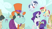 Rarity nervous smile S4E23