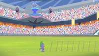 Spike watches the fireworks display S4E24