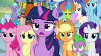 Twilight Sparkle tells Neighsay to step aside S8E2