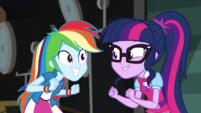 Twilight and Rainbow Dash super-excited EGS2