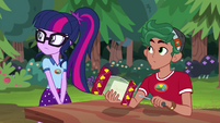 Twilight and Timber hear Principal Celestia EG4