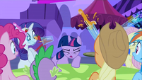 Twilight slamming the table S2E25