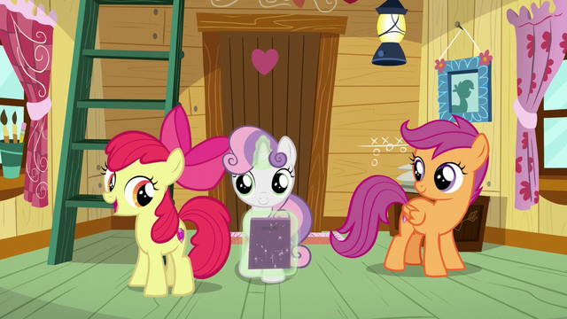 "File:Apple Bloom ""not a bad way at all!"" S7E6.png"