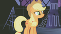 Applejack questioning the sixth element's spark S1E02.png